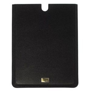 """Dolce & Gabbana Black Leather 9.7"""" Tablet Cover"""